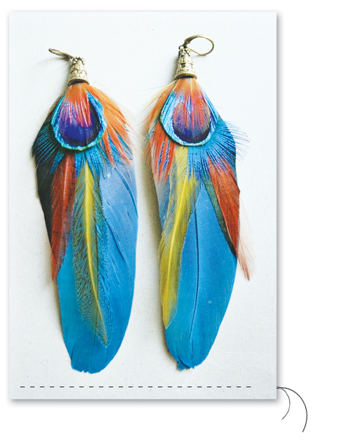 Feather-earring